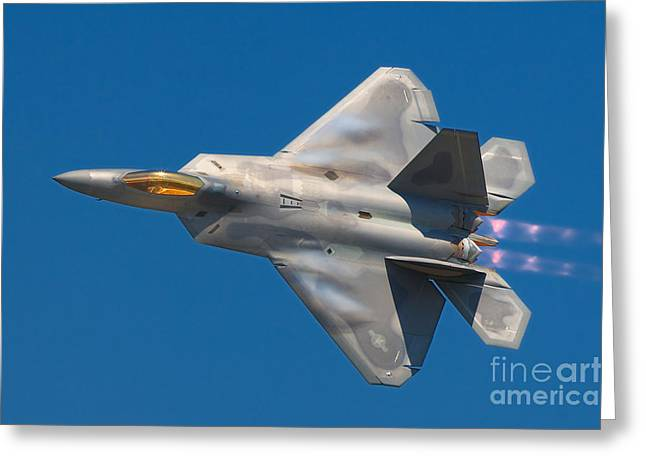 Not Wanted Greeting Cards - Lockheed Martin F22A Raptor Greeting Card by Rob Shenk