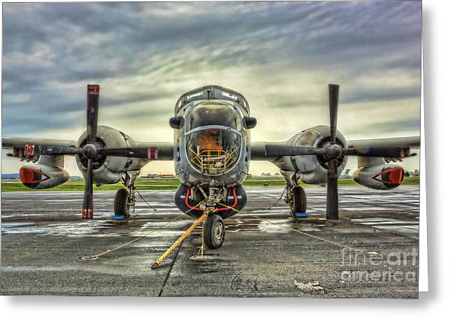 World War 2 Airmen Greeting Cards - Lockheed P-2 Neptune Gunship Greeting Card by Lee Dos Santos
