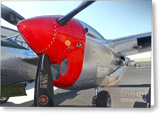 Lockheed P-38l Lightning Honey Bunny  - 07 Greeting Card by Gregory Dyer