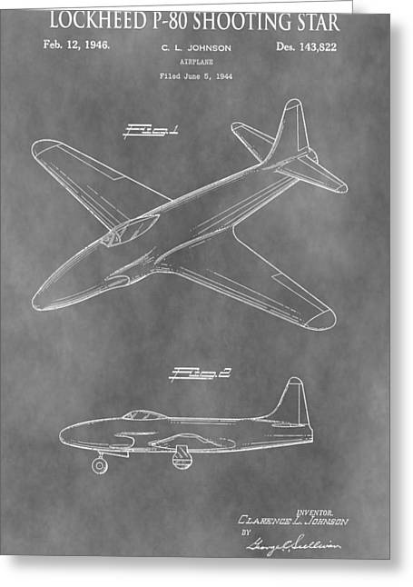 Jet Star Greeting Cards - Lockheed P-80 Shooting Star Greeting Card by Dan Sproul