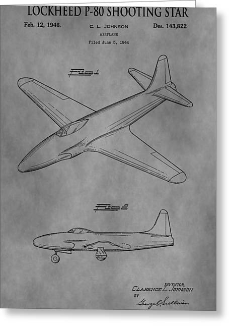 Jet Star Greeting Cards - Lockheed Patent Greeting Card by Dan Sproul