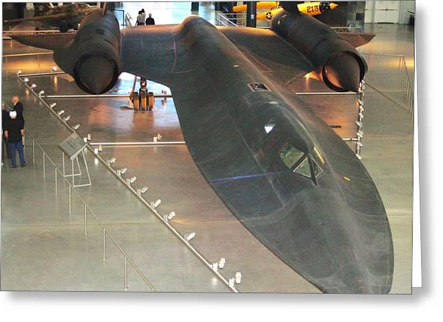 Jet-propelled Greeting Cards - Lockheed SR-71 Blackbird Greeting Card by Patti Whitten