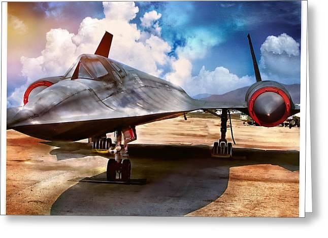 Lockheed Photographs Greeting Cards - Lockheed SR-71 Greeting Card by Steve Benefiel