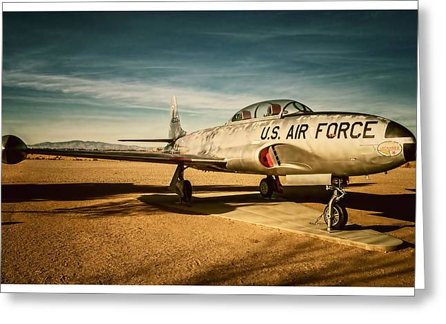 Jet Star Photographs Greeting Cards - Lockheed T-33 Shooting Star Greeting Card by Steve Benefiel