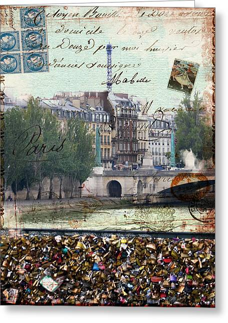 Commercial Photography Paintings Greeting Cards - Locks Of Love Greeting Card by Sandy Lloyd
