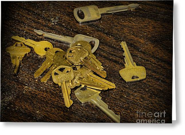 Wood Cutters Greeting Cards - Locksmith - Rejected Keys Greeting Card by Paul Ward