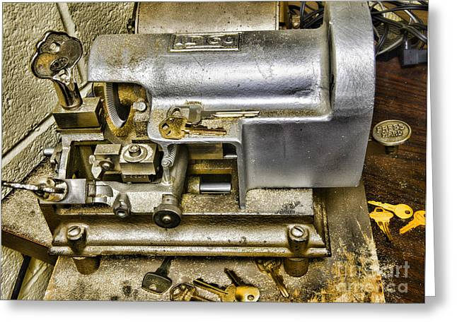 Smithy Greeting Cards - Locksmith - The Key Maker Greeting Card by Paul Ward