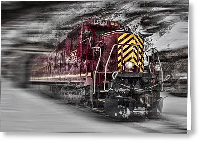 Express Digital Greeting Cards - Locomotion Greeting Card by Ellen Heaverlo