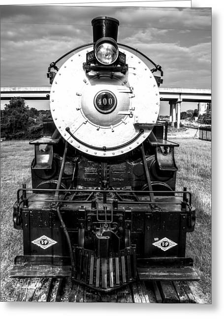 Steam Locomotive Greeting Cards - Locomotive 400 Marshall Texas Greeting Card by Geoff Mckay