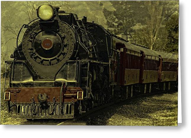 Cabin Wall Greeting Cards - Locomotive 499  Greeting Card by Movie Poster Prints