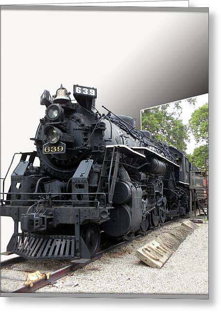 Photography By Tom Woolworth Greeting Cards - Locomotive 639 Type 2 8 2 Out of Bounds Greeting Card by Thomas Woolworth