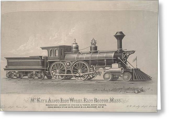 Locomotive Engines Greeting Card by MotionAge Designs