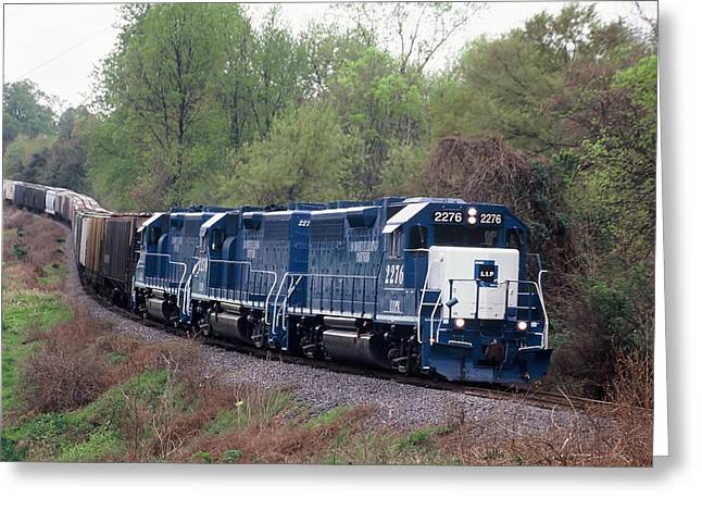 Leasing Greeting Cards - Locomotive Leasing Partners on an L and C Train Greeting Card by Joseph C Hinson Photography