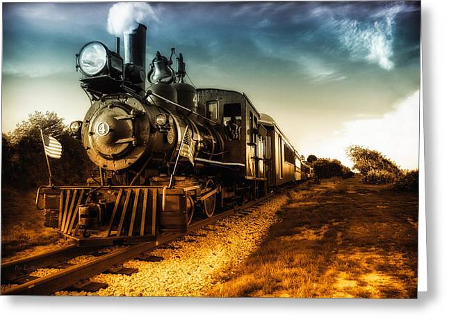 Flag Photographs Greeting Cards - Locomotive Number 4 Greeting Card by Bob Orsillo