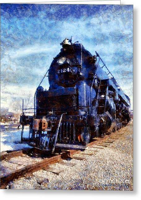 Historic Site Digital Greeting Cards - Locomotive Train 2124 Greeting Card by Janine Riley