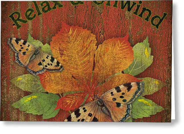 Unwind Digital Greeting Cards - Lodge Vignettes-C Greeting Card by Jean Plout