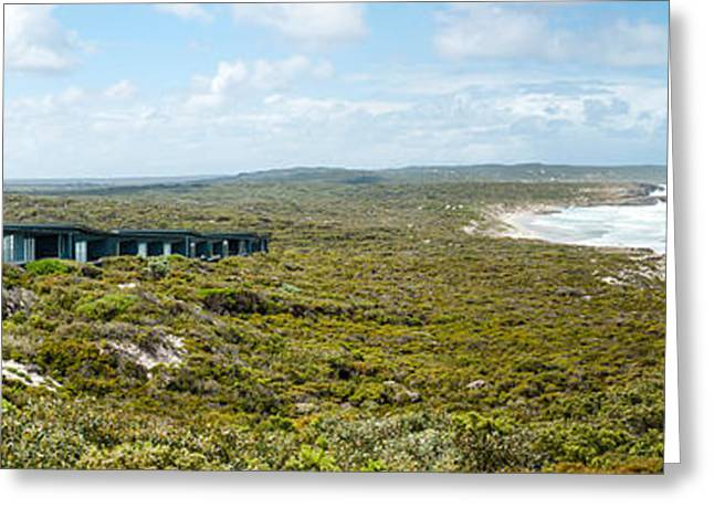 Eco-tourism Greeting Cards - Lodges At The Oceanside, South Ocean Greeting Card by Panoramic Images