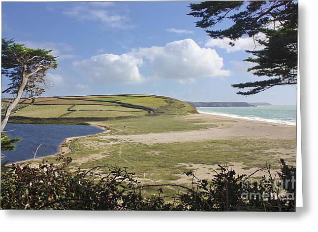 Terri Waters Greeting Cards - Loe Bar Cornwall Greeting Card by Terri  Waters