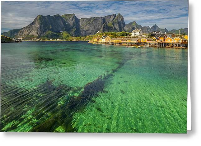 Ocean Panorama Greeting Cards - Lofoten Norway Greeting Card by Jan Sieminski