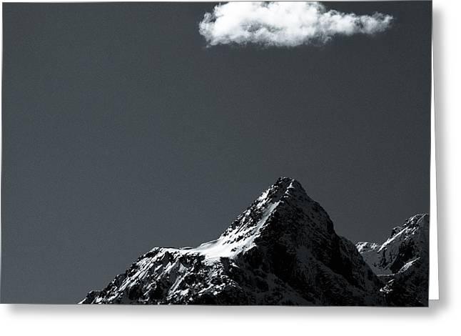 Rugged Mountains Greeting Cards - Lofoten Peak Greeting Card by Dave Bowman