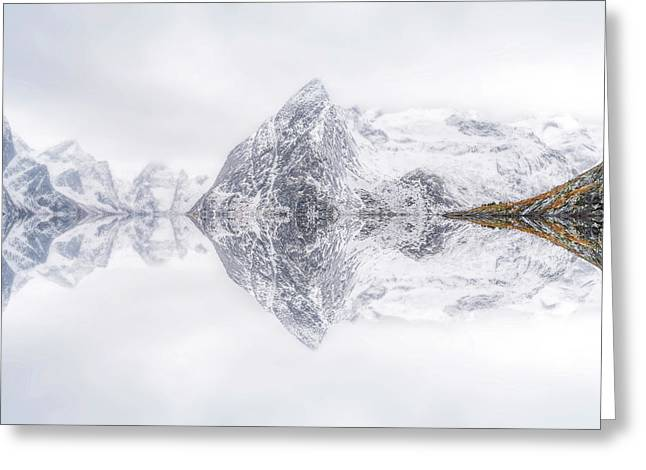 Lofoten Reflection Greeting Card by Ignacio Palacios