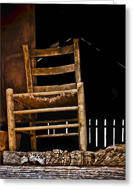 Hayloft Greeting Cards - Loft Chair 2 Greeting Card by Greg Jackson