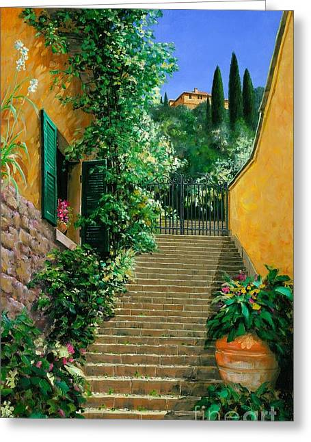 Michael Swanson Greeting Cards - Lofty Hights - Oil Greeting Card by Michael Swanson