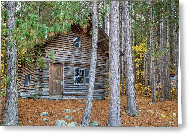 Log Cabins Greeting Cards - Log Cabin in the Eastern Townships Greeting Card by Pierre Leclerc Photography
