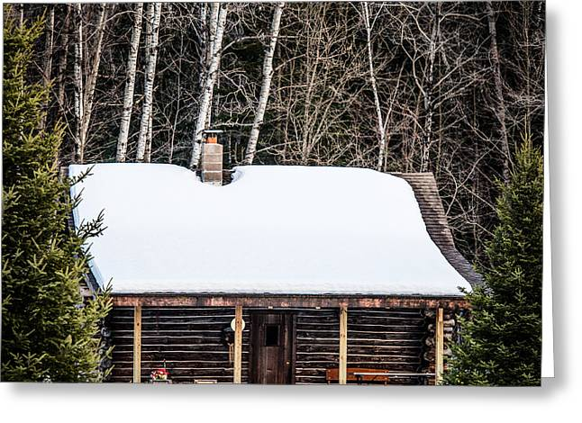 Log Cabins Greeting Cards - Log Cabin  Greeting Card by Paul Freidlund
