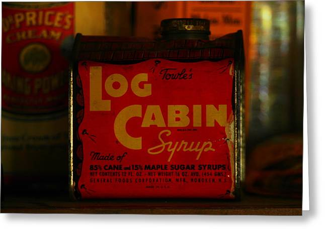 Log Cabins Greeting Cards - Log Cabin Syrup Greeting Card by Jeff  Swan