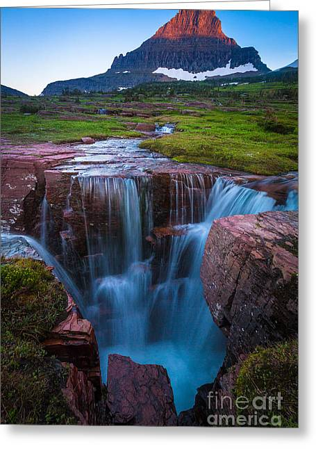 Reynolds Greeting Cards - Logan Pass Abyss Greeting Card by Inge Johnsson