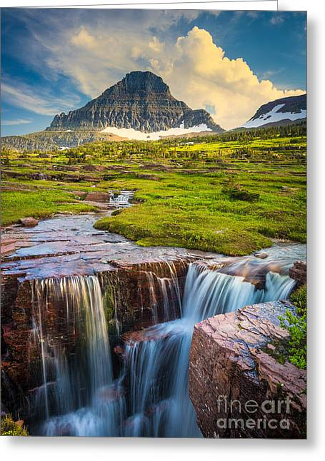 Reynolds Greeting Cards - Logan Pass Landscape Greeting Card by Inge Johnsson
