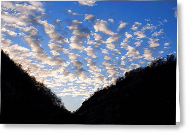 Landscape Posters Greeting Cards - Logan Wv Sunset Greeting Card by Chris Flees