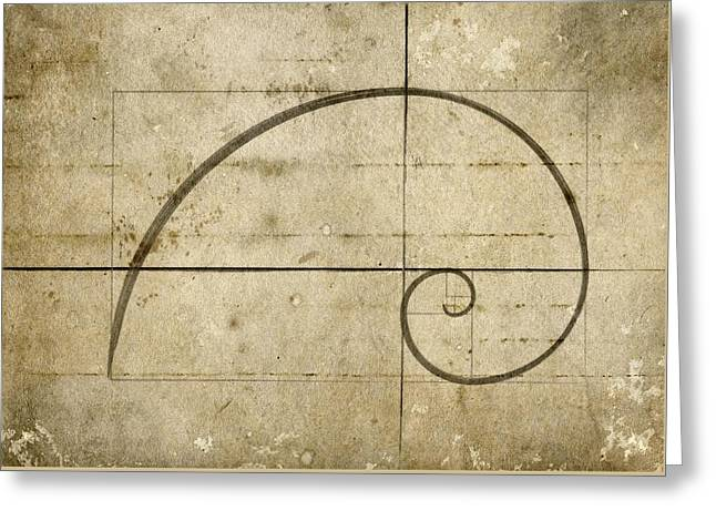 Logarithmic Spiral Greeting Card by Brett Pfister
