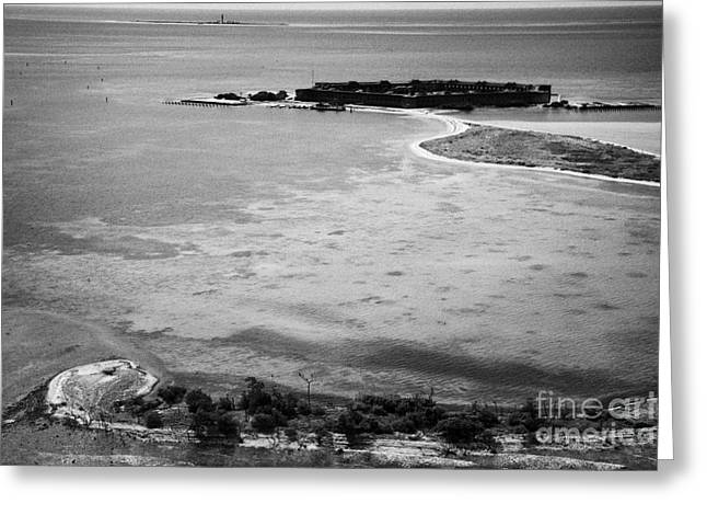 Dry Tortugas Photographs Greeting Cards - Loggerhead Key Garden Key With Fort Jefferson Bush Key And Long Key In The Dry Tortugas Florida Keys Greeting Card by Joe Fox