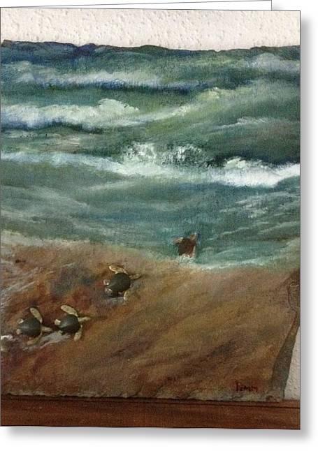 Loggerheads Greeting Card by Betty Pimm