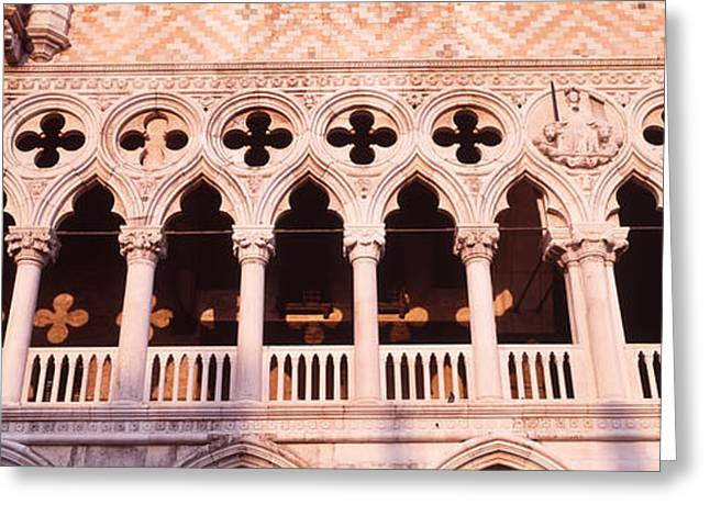 Quatrefoil Greeting Cards - Loggia, Doges Palace, Venice, Italy Greeting Card by Panoramic Images