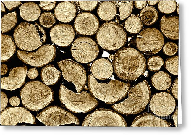 Logs Greeting Card by Jeff Breiman