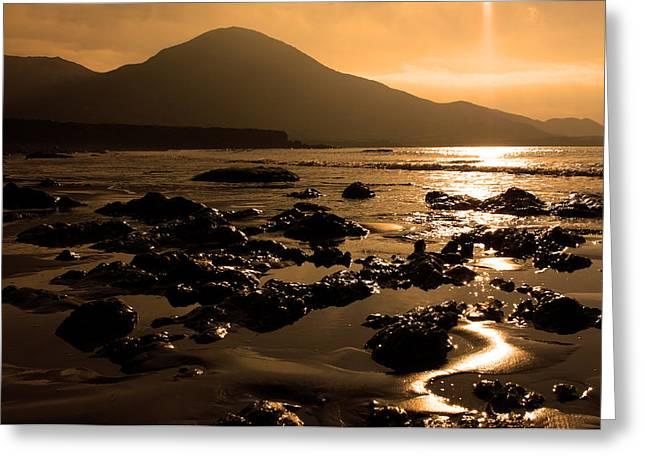 Dark Skies Greeting Cards - Lohar Beach Co Kerry Ireland Greeting Card by Aidan Moran