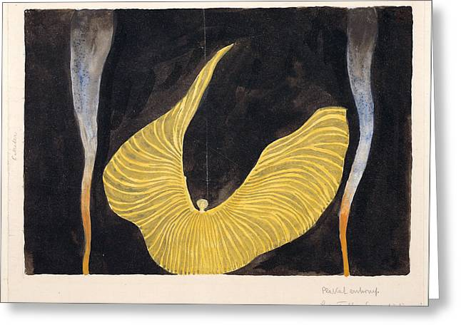Archangel Greeting Cards - Loie Fuller in the Dance The Archangel Greeting Card by Koloman Moser