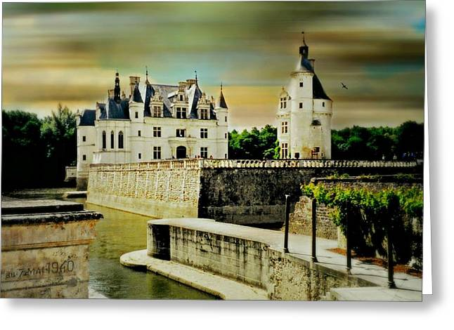 Romance Renaissance Greeting Cards - Loire Valley Chateau Greeting Card by Diana Angstadt