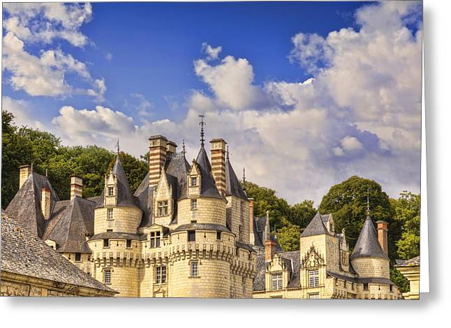 Chateau Greeting Cards - Loire Valley Chateau Usse Greeting Card by Colin and Linda McKie