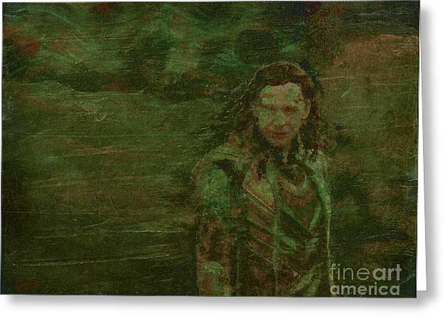 Loki Greeting Cards - Loki Greeting Card by Alys Caviness-Gober