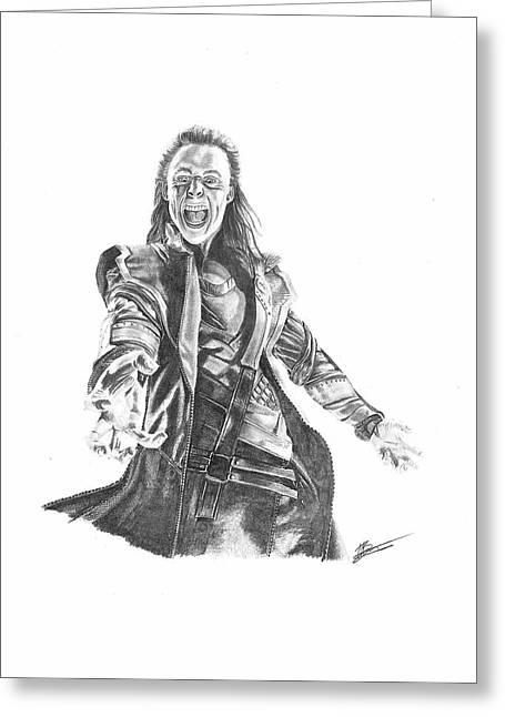 Loki Greeting Cards - Loki Greeting Card by Carl Barrow