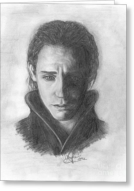 Loki Greeting Card by Christine Jepsen
