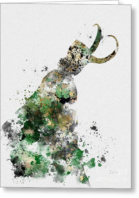 Thor Greeting Cards - Loki Greeting Card by Rebecca Jenkins