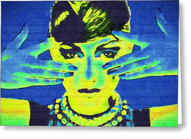 Banksy Paintings Greeting Cards - Lola Greeting Card by Alex Skull