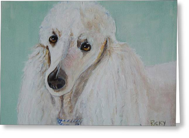 Veronica Rickard Greeting Cards - Lola Blue - painting Greeting Card by Veronica Rickard