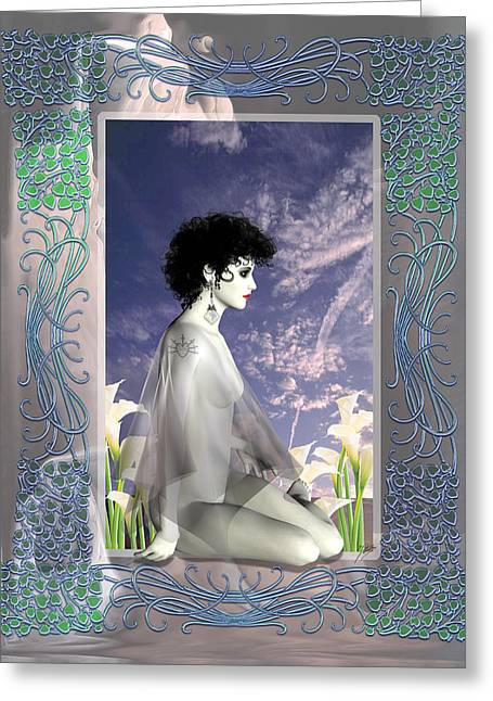 Artistic Nude Framed Prints Greeting Cards - Lola Daggers Greeting Card by Quim Abella