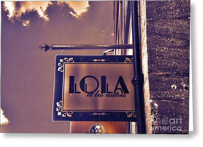 Montreal Icon Greeting Cards - Lola et les autres Greeting Card by Claudia Mottram